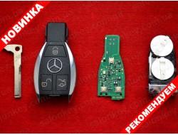 Ключ Mercedes Benz хром 3 кнопки 434Mhz