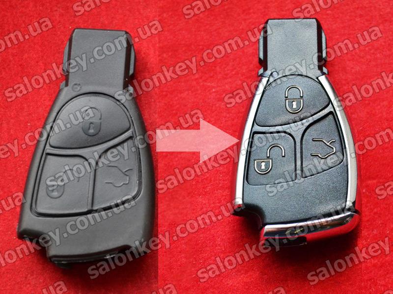 Корпус для переделки ключа Mercedes Benz 3 кнопки