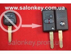 Выкидной ключ Mitsubishi outlander, lancer, grandis на 3 кнопки вид Men Style