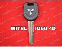 Ключ с транспондером Mitsubishi лезвие на ключе MIT8L чип ID61 4D