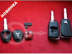 Выкидной ключ Mitsubishi для переделки 3 кнопочного лезвие MIT11R