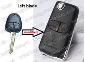 Ключ Mitsubishi выкидной для модификации обычного 2 кнопочного лезвие левое New Style