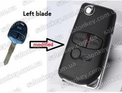 Ключ Mitsubishi выкидной для модификации обычного 3 кнопочного лезвие левое New Style