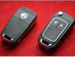Выкидной ключ Opel Insignia, Vectra, Astra с 2010г. корпус на 2 кнопки хром