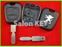 Корпус ключа Peugeot 2 кнопки лезвие NE78 (ORIGINAL)