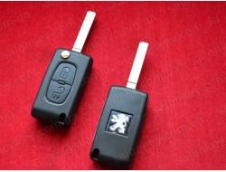 Корпус выкидного ключа Peugeot 207 2 кнопки 2006-2009 (ORIGINAL)