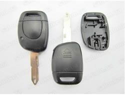 Ключ Renault 1 кнопка с местом под батарейку лезвие NE73