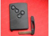 Ключ карта Рено Меган, Лагуна 4 кнопки пцф7941 433Мгц