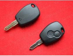 Ключ Renault 2 кнопки лезвие NE73 корпус без электроники
