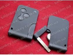 Ключ карточка Megane Scenic без логотипа 3 кнопки ID46 434Mhz