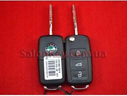 Выкидной ключ Skoda CAN48, 434Mhz, 3T0 837 202 H, Оригинал