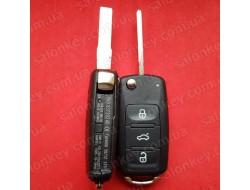 Ключ выкидной Volkswagen 2 кнопки 434Mhz CAN id48 7E0 837 202 AD