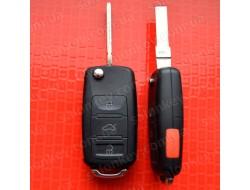 Ключ выкидной Volkswagen 3+1 кнопки 315Mhz CAN id48 5K0 837 202 AE