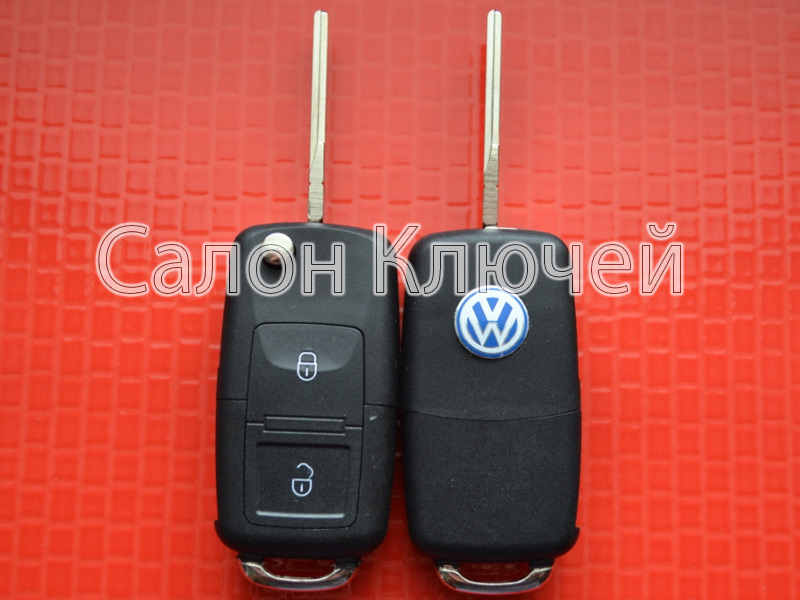 Ключ выкидной Volkswagen 2 кнопки 434Mhz id48 1J0959753AG