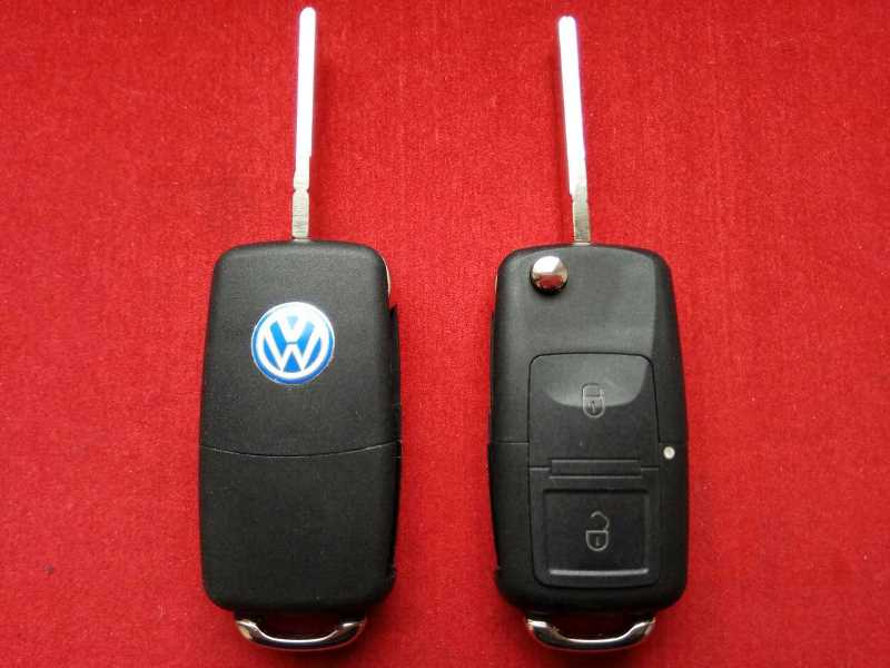 Ключ выкидной Volkswagen 2 кнопки корпус до 2010года