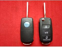 Выкидной корпус ключа Volkswagen на 3 кнопки с 10г