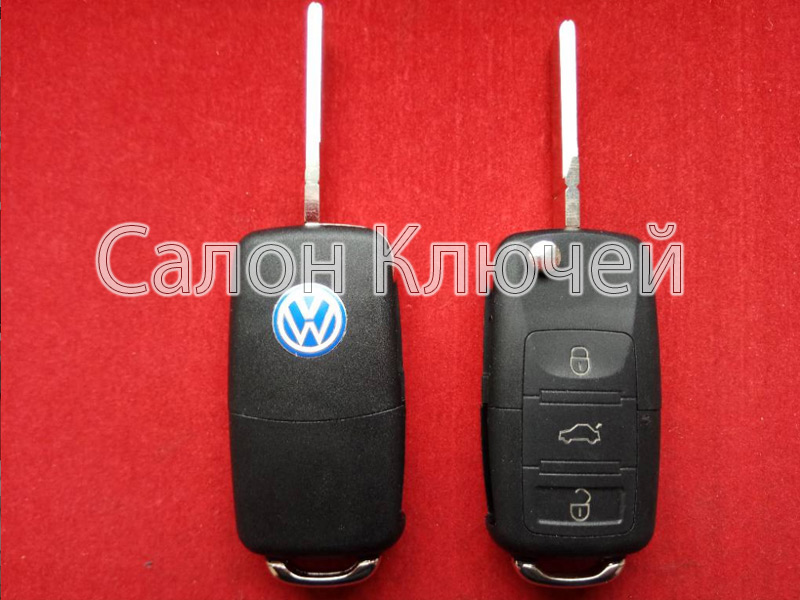 Ключ Volkswagen выкидной 3 кнопки 434Mhz id48 6QE959753