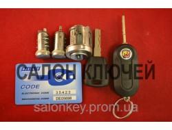FIAT комплект замков с ключами. Ключи с электроникой PCF7946.