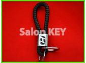 Брелок HYUNDAI для ключей кожаный шнурок с кольцами