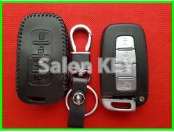 Кожаный чехол для ключа КИА 4 кнопки