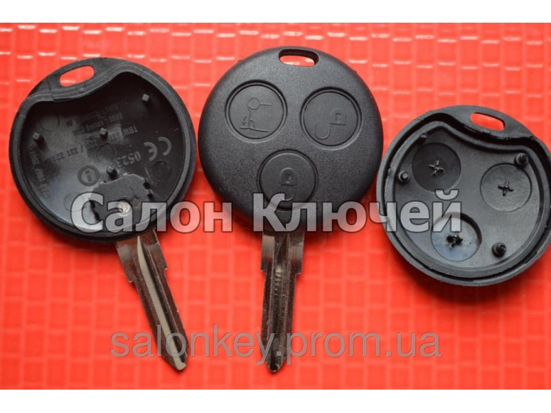 Ключ Smart Fortwo 3 кнопки корпус