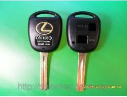 Ключ Lexus es300, gs300, gs400, is300, lx470, rx300, rx330, rx350, ls400 корпус 2 кнопки