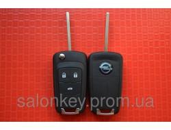 Выкидной ключ Opel Insignia, Vectra, Astra с 2010г. корпус на 3 кнопки