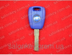 Key Fiat with transponder ID48 blade SIP22