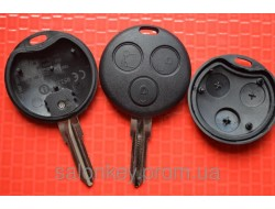 Mercedes Smart Fortwo корпус для ключа 3 кнопки без лого Вид №1