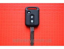 Корпус ключа Nissan tiida almera 2+1 кнопки Узкий
