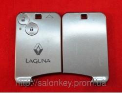 Карта ключ Renault Laguna 2 кнопки корпус без электроники