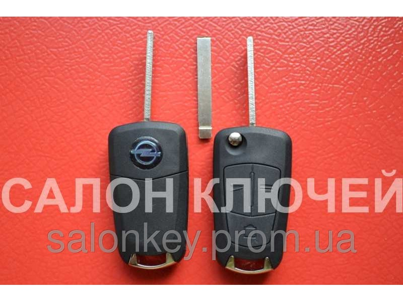 Выкидной ключ для автомобиля Opel с чипом