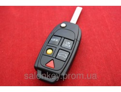 Ключ выкидной Volvo на 5 кнопок. Корпус ключа Volvo