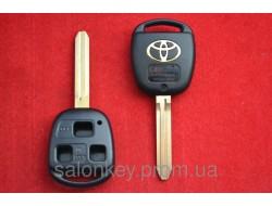 Ключ корпус 3 кнопки лезвие TOY43 Toyota Camry, 4Runner, Auris, Corolla, Land Cruiser