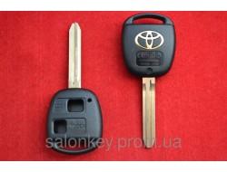 Корпус ключа Toyota Camry, Prado Corolla 2 кнопки лезвие Toy43