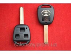 Корпус для ключа Toyota 3кн лезвие Toy48 OLD, Prado, Land Cruiser