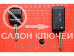 Ключ Subaru tribeca, forester, impreza, outback выкидной 2 кнопки лезвие NSN14. Вид№1