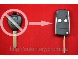 Ключ Toyota выкидной 2 кнопки вид NEW HROME