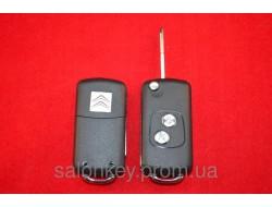 Выкидной ключ Citroen c1, c3, c4 на 2 кнопки для переделки с обычного