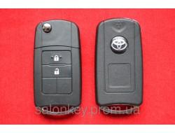 Toyota Land Cruiser выкидной ключ для переделки 2 кнопки