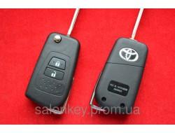 Toyota camry выкидной ключ для переделки 2 кнопки с 2011