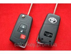 Toyota camry выкидной ключ для переделки 3 кнопки с 2011