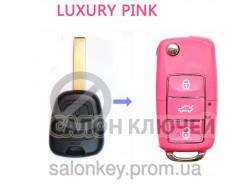 Ключ Citroen C1 выкидной розовый