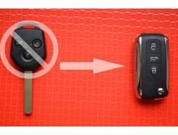 Sключ в выкидном корпусе Bentley. Вид ромб 3 кнопки 433Mhz чип 4D id62 лезвие Dat17. P\N: 88049SC000