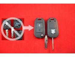 Ключ Peugeot 206 выкидной для переделки с обычного вариант №3