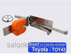 Smart 2в1 TOY43 Отмычка и декодер с подсветкой для TOYOTA.