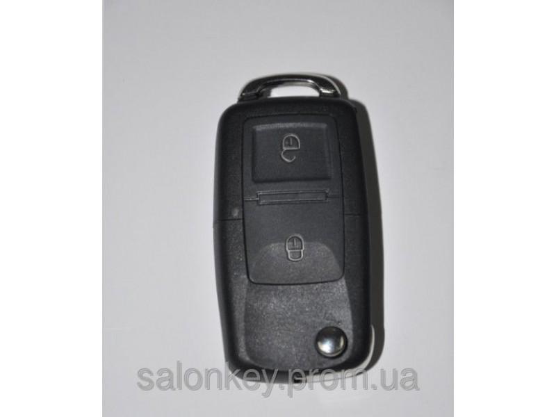 Ключ выкидной универсальный. Вид Volkswagen 2 кнопки.