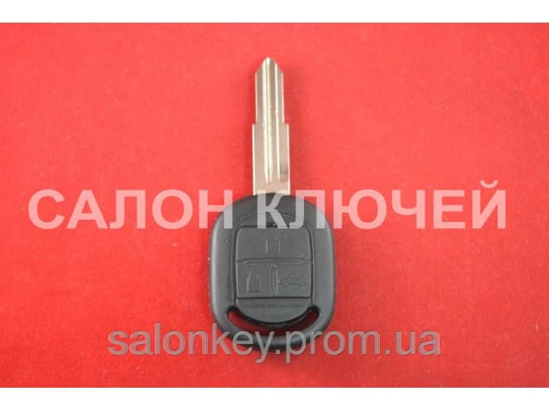Chevrolet Lacetti ключ 3 кнопки Вид №2 корпус ключа