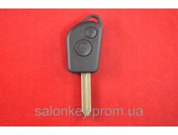 Ключ Citroen berlingo, jumpy, xsara 2 кнопки лезвие SХ9  Вариант 2