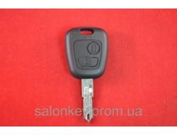 Ключ Citroen 2 кнопки лезвие NE72